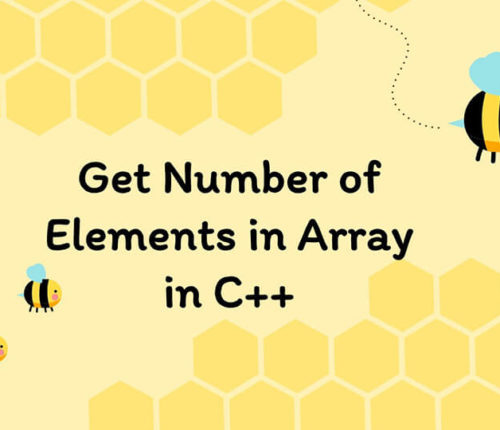 Get Number of Elements in Array in C++