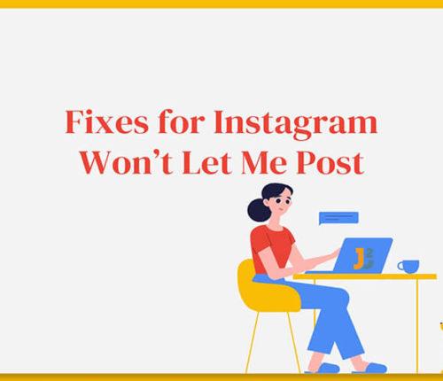 Instagram won't let me post